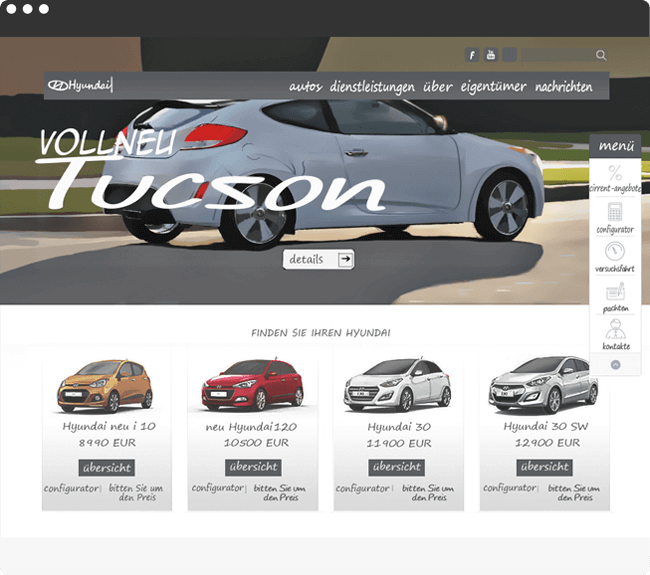 Hyundai Projekt Bild - Website Design