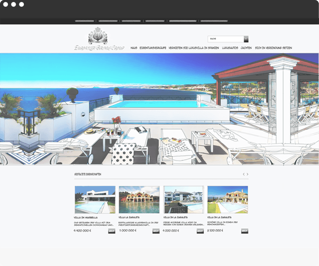 Eurovilla Banus Group Projekt Bild - Website Design